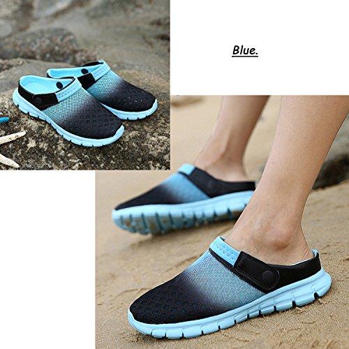 Mesh Shoes Clog Summer Beach Drying Women's Blue5 Mens Sandals Walking Garden Quick Barkor wOzIx