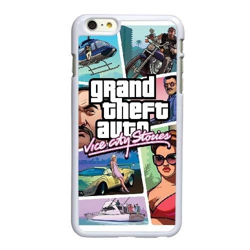 D8V04 Grand Theft Auto Vice City Stories G2Q6DJ coque iPhone 6 4.7 pouces cas de couverture de téléphone portable coque blanche RW7DET4NI