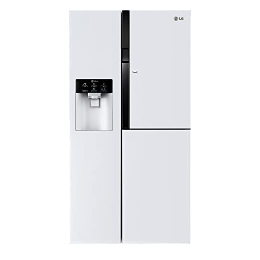 LG - Frigorífico Side by Side GS9366SWQVD con dispensador de agua ...