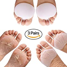 Zigora Metatarsal Pads for Women Inserts - Ball of Foot Cushions/High Heel Gel Pad Protectors & Inserts for Men and Women (3 Pairs, 6 Pcs)/ Breathable Pad Set/Perfect for All Types of Foot Pain