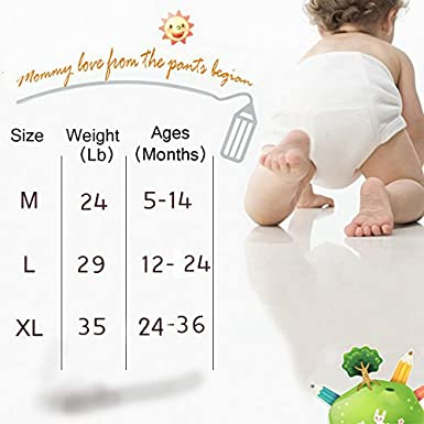 Toddler Baby Girl Boy Pee Potty Training Pants Cute Diaper Nappy 4 Pack Max shape