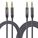 Audio Cable CSHope 3.5mm 2Pack Male to Male Nylon Braided Auxiliary Aux Stereo Cable (Black with Grey, 10ft + 3.3ft)