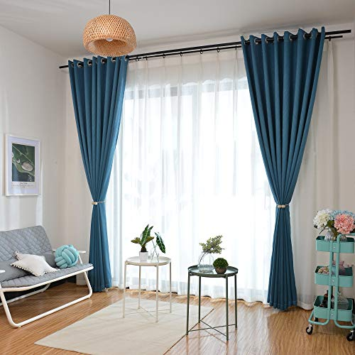AMAZDN Curtain Tiebacks Magnetic Curtain Holdbacks for Draperies,Sheer Panels and Blackout Without Drilling 1 Pair (Dark Coffee) by AMAZDN (Image #5)