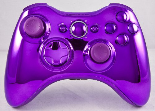 Chrome Purple Xbox 360 Modded Controller (Rapid Fire) COD Ghosts, MW3, Black Ops 2, MW2, MOD GAMEPAD (Xbox 360 Purple Controller Modded)