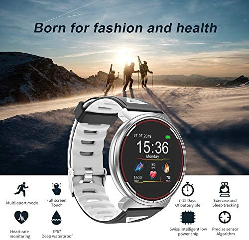 Smart Watch for iOS Android Phones, AIVEILE 2020 Version Activity Fitness Tracker Bluetooth Bracelet Waterproof Smartwatch with Blood Pressure Monitor Compatible Samsung iPhone for Men Women Kids 5