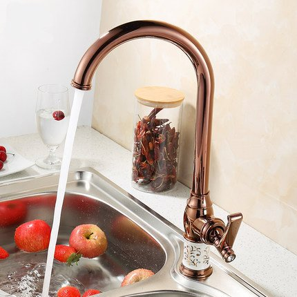 Bijjaladeva Antique Bathroom Sink Vessel Faucet Basin Mixer Tap The copper bluee enamel antique kitchen faucet dish washing basin cold water tap pink gold