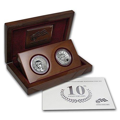 (2007 W 2-Coin Proof Platinum Eagle Set (10th Anniv, Box & COA) Brilliant Uncirculated)