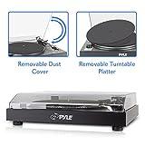 Pyle PLTTB3U Belt Drive USB Turntable With Recording & Digital Software