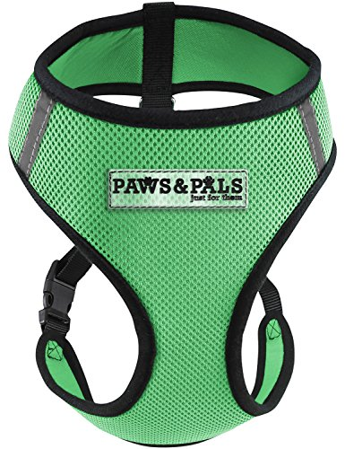 Paws & Pals Pet Control Harness for Dog & Cat Easy Soft Walking Collar, Large, Hunter - Hunter Harness Green Adjustable