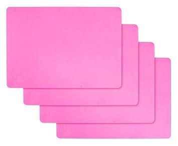 Vidillo Láminas de Silicona para moldes de Resina, 4 Piezas Lámina de Silicona Flexible Grande para moldes para artesanías de fundición de Resina líquida, ...