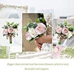 YSUCAU-Wedding-Bridal-Bouquet-98-Wedding-Bride-Bouquet-Wedding-Holding-Bouquet-with-Artificial-Peony-and-Rose-Fiowers-Natural-Jute-Twine-Crystal-for-Wedding-Church-Party-and-Home-Decor