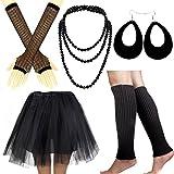 IETANG Women's 80s Fancy Outfit Costume Accessories Set Adult Tutu Skirt Long Socks