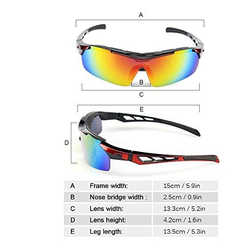 de Polarizadas Ciclismo Uv400 Sol 1 con Lixada Lentes de 5 Gafas Intercambiables CqEX5
