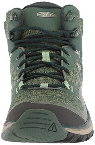 Keen Women's Terradora Mid WP High Rise Hiking Shoes, Astral Aura/Liberty Duck Green/Quiet Green