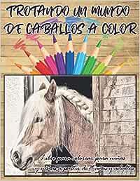 TROTANDO UN MUNDO DE CABALLOS A COLOR | Libro para colorear para niños y niñas a partir de 9 años y adultos: Disfrute del mundo equino con esta ... mientras libera el estrés, ideal para regalo