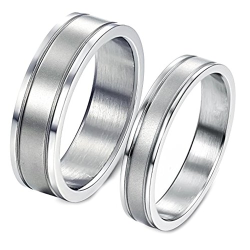 Bystar Fashion Jewelry Grooves Stainless