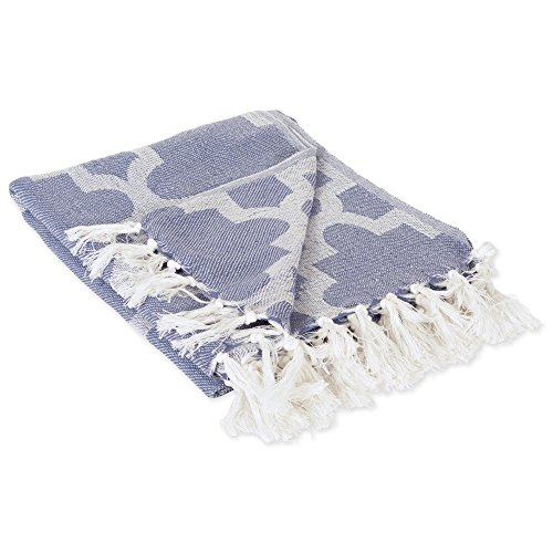 - DII Modern Moroccan Cotton Blanket Throw with Fringe For Chair, Couch, Picnic, Camping, Beach, & Everyday Use , 50 x 60