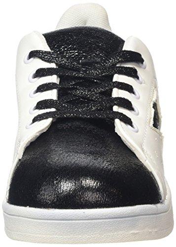 Boohoo Damen Star Detail Lace Up Trainers Sneaker Weiß