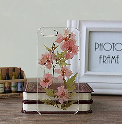 Rebbygena Personalized Real Flower iPhone 6 Case Handmade Pressed Flower iPhone 6s Case and Covers 4.7 inch