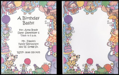 Birthday Card Imprintables: Stationery Designed for Your Inkjet or Laser Printer [20 Cards + - Invitations Birthday Imprintable