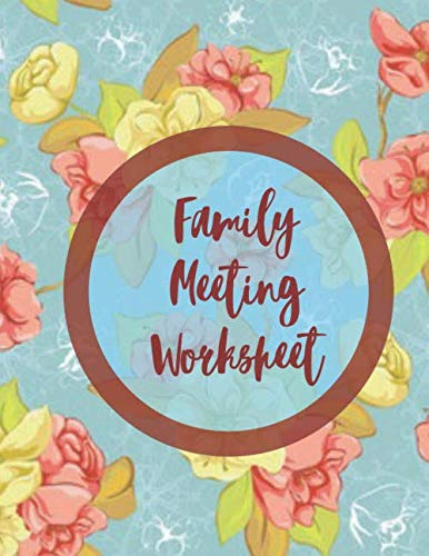 """Family Meeting Worksheet: Family Meeting Minutes Notebook Journal, Household Planning, Gifts for Men, Women, Adults, Parents, Mum, Dad, Grandparents, ... 8.5"""" x 11"""", 110 Pages (Household Supplies)"""