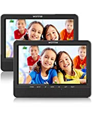 """WONNIE 2 10,5"""" tragbare Auto DVD Player 4 Stunden Kopfst¨¹tze Monitor 1024 * 600 HD Bildschirm Kopfst¨¹tze montieren, Support f¨¹r USB/SD, AV IN/Out, Car-Reiseunternehmen f¨¹r Familie (1Host +1 Slave)"""