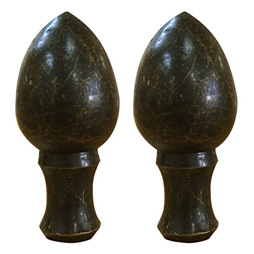 Royal Designs Egg Lamp Finial for Lamp Shade- Antique Brass Set of 2 by Royal Designs, Inc (Image #5)