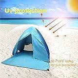 Fbsport Portable Lightweight Beach Tent ,Automatic Pop Up Sun Shelter Umbrella,Outdoor Cabana Beach Shade with UPF 50+ Sun Protection