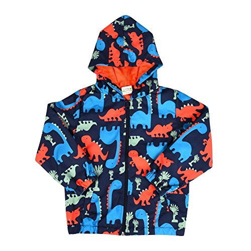 - Boys Toddler Jacket Dinosaur Zip Hoodie Mesh Lined Casual Hooded Windbreaker Kids 2 3 4 5 6 7 T