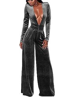 Amazon.com: LightlyKiss - Pantalones de terciopelo de manga ...