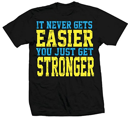 TapouT Never Gets Easier T-shirt (Large, Black) (T Tapout Shirt)