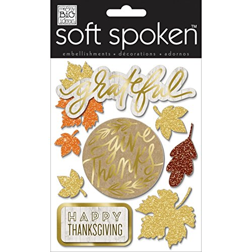 me & my BIG ideas Fall Grateful Soft Spoken Themed Embellishments]()