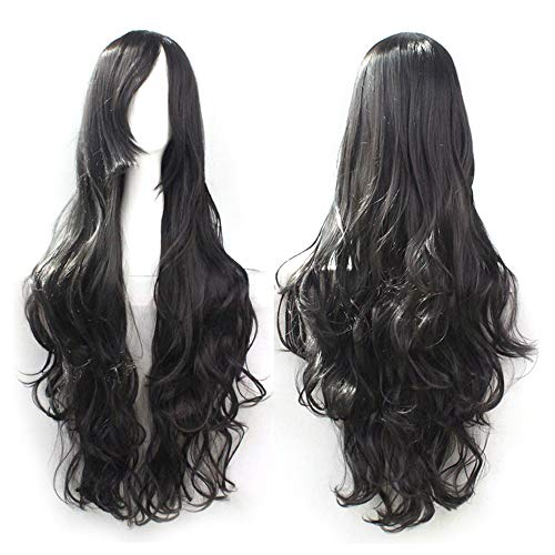 RedBrowm Cosplay Costume Wigs Women Long Curl Wavy Red Halloween Party Anime Hair -