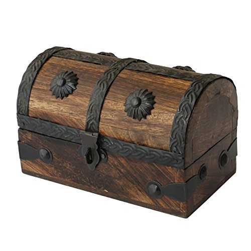Treasure Chest Toy - Nautical Cove Treasure Chest Keepsake and Jewelry Box Wood - Toy Treasure Box