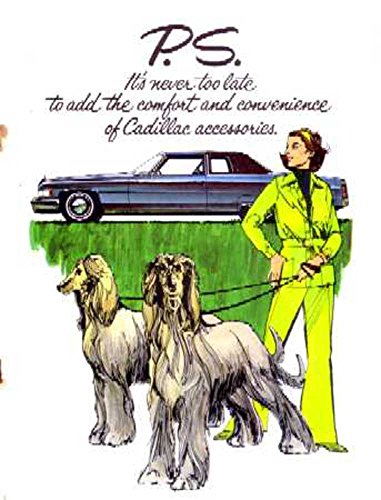1970-1975 1973 1974 Cadillac Accessories Sales Brochure Literature Book Features