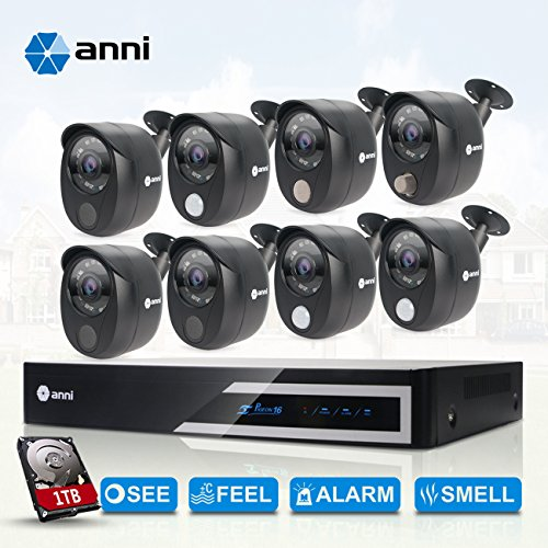anni 16-Channel Security Camera System 1080N Digital Video R
