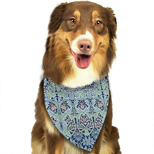 OURFASHION William Morris Bluebell Columbine Bandana Triangle Bibs Scarfs Accessories for Pet Cats and Puppies.Size is About 27.6x11.8 Inches (70x30cm). ()
