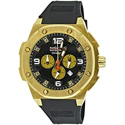 Nautec No Limit Sailfish SF QZ/RBGDGDBK - Men's Watch, Strap caucciÌ_ Color Black