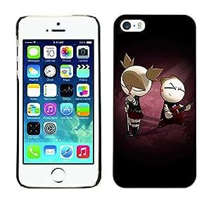 Be Good Phone Accessory // Dura Cáscara cubierta Protectora Caso Carcasa Funda de Protección para Apple Iphone 5 / 5S // Cute Punk Couple