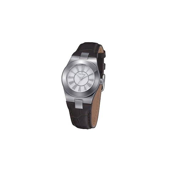 Time Force Reloj analogico para Mujer de Cuarzo con Correa en Piel TF4003L02: Amazon.es: Relojes