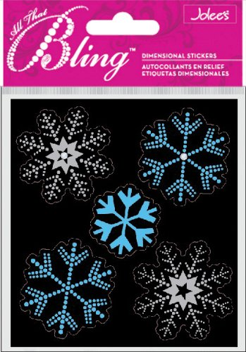 Jolee's Boutique Bling, Snowflakes Dimensional Stickers (Jolees Snowflakes Boutique)