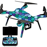 MightySkins Protective Vinyl Skin Decal for 3DR Solo Drone Quadcopter wrap cover sticker skins Blue Scales