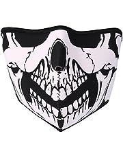 JewelryWe Neopreno Biker Moto Snowboard Máscara Tormenta Máscara Pasamontañas de esquí Máscara–Skull Face Calavera