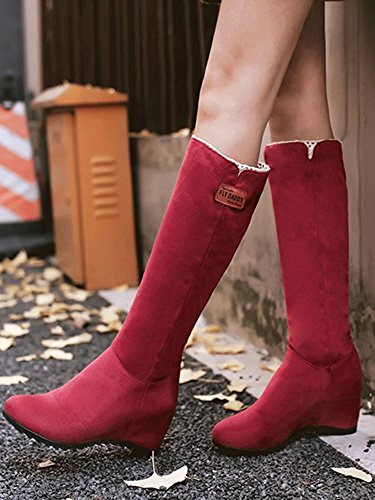 AIYOUMEI Boot Red Women's Classic AIYOUMEI Women's d4Bzd