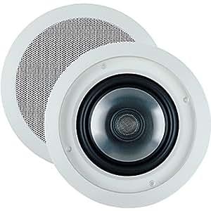 """JBL SP6CII 2-way, Round 6.5"""" In-Ceiling Speaker with Swivel Mount Tweeter (Pair)"""