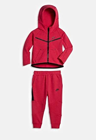 bbc8d258ff455 Amazon.com: Nike Tech Fleece Two-Piece Girls' Toddler Set Rush Pink ...