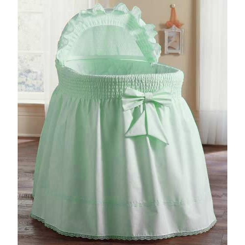 aBaby Smocked Bassinet Skirt, Mint, Small by Ababy