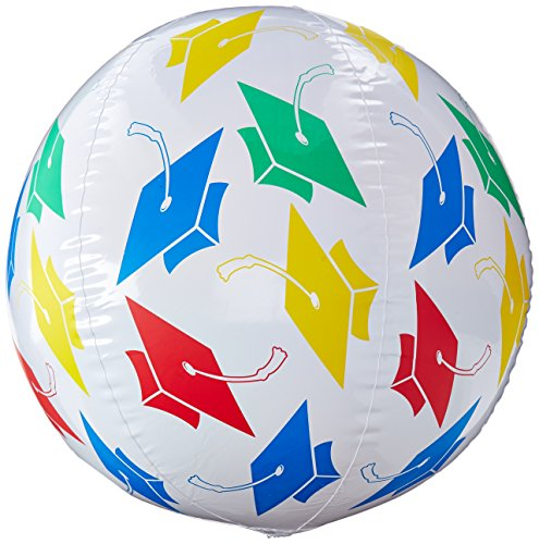 Grad Beach Ball Party Accessory (1 count) (1/Pkg) -
