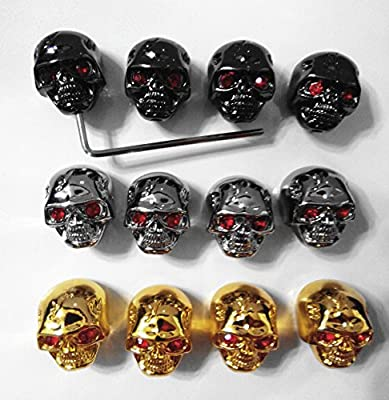Kmise pure0035 12*Skull Head Knob Volume Tone pot Control Knob For Gibson LP Guitar with wrench from Kmise