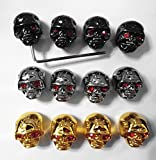 #8: Kmise pure0035 12Skull Head Knob Volume Tone pot Control Knob For Gibson LP Guitar with wrench